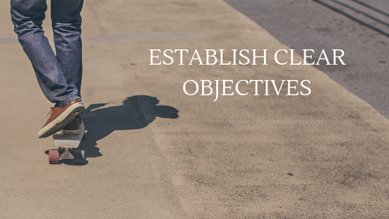 ESTABLISH CLEAR OBJECTIVES