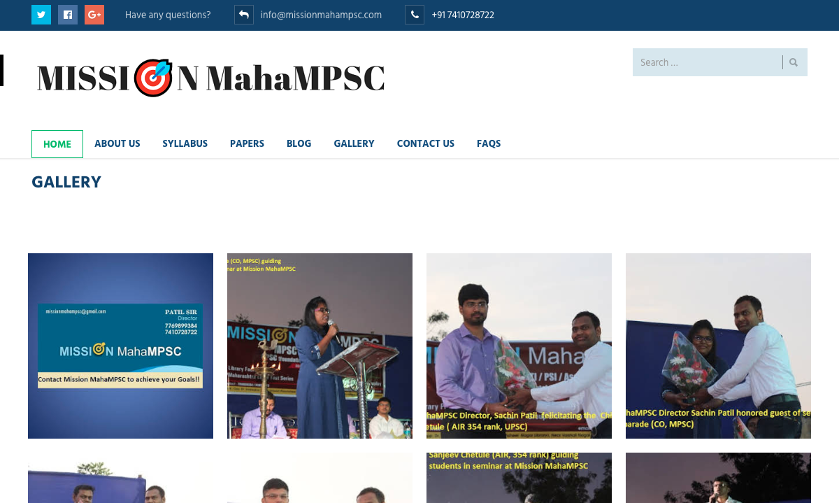 Mission Maha MPSC Gallery Page